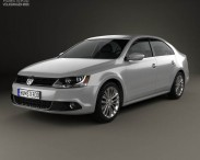 3D model of Volkswagen Jetta (Sagitar) 2011