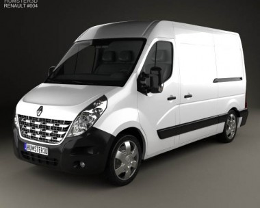 3D model of Renault Master Panel Van 2010