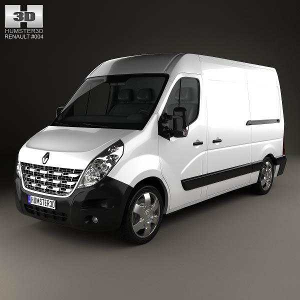 Renault Master PanelVan 2010 3d model