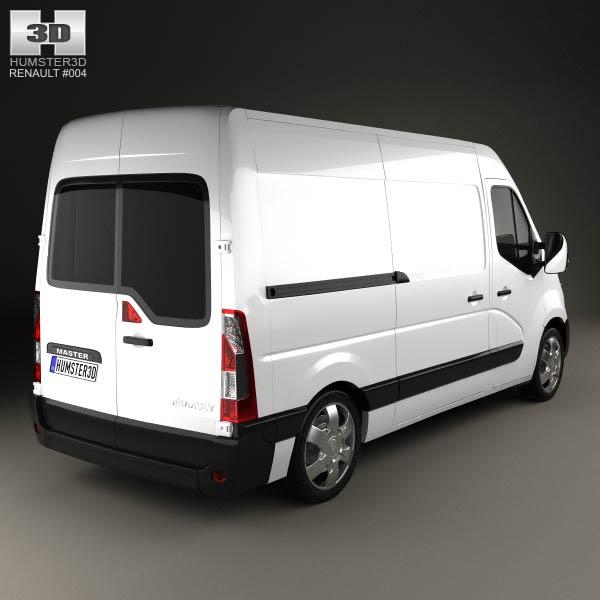Renault Master Panel Van 2010 3d model