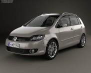 3D model of Volkswagen Golf Plus 2011