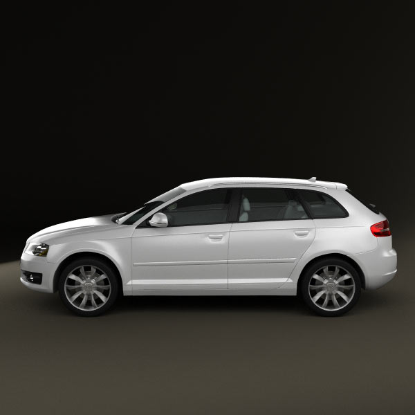 audi a3 sportback 2011 3d model humster3d. Black Bedroom Furniture Sets. Home Design Ideas