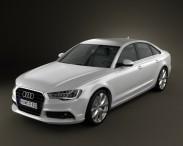 3D model of Audi A6 sedan 2012