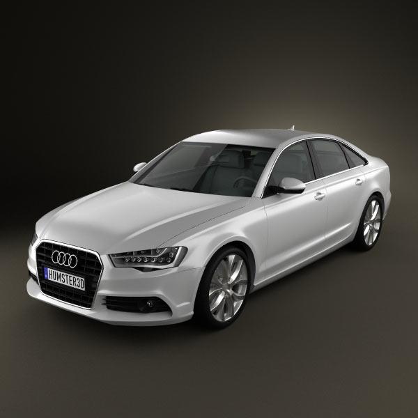 Audi A6 sedan 2012 3d car model