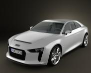 3D model of Audi Quattro Concept 2012