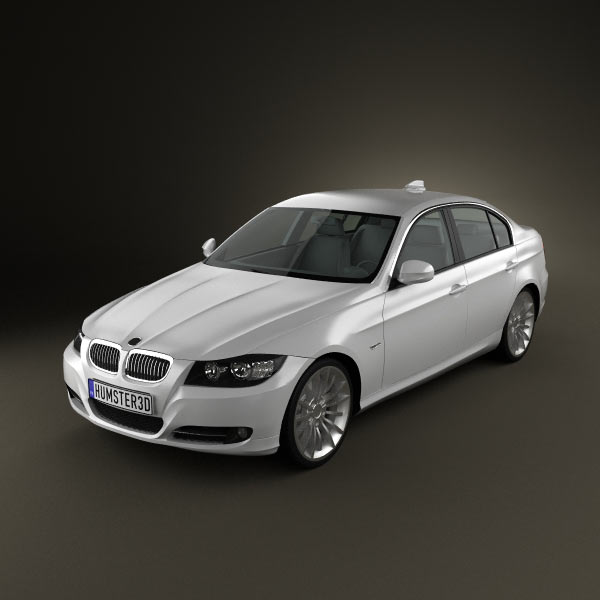 BMW 3 Series Sedan 2011 3d car model