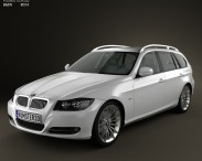 3D model of BMW 3 series Touring