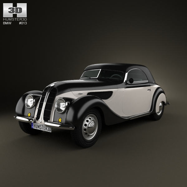BMW 327 cabriolet 1937 3d car model