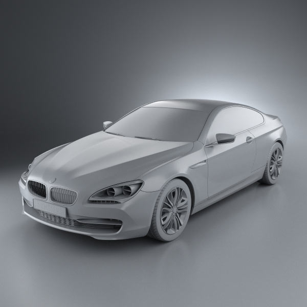 BMW 6 Series F12/F13 Coupe Concept 3D Model