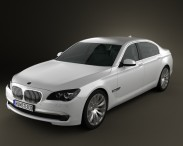 3D model of BMW 7 Series Sedan 2011