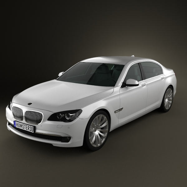 BMW 7 Series Sedan 2011 3d car model