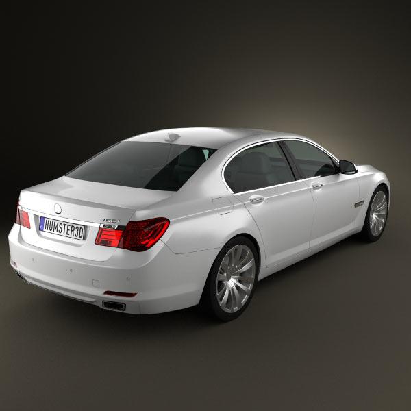 BMW 7 Series Sedan 2011 3d model