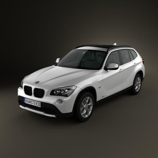BMW X1 2010 3d car model