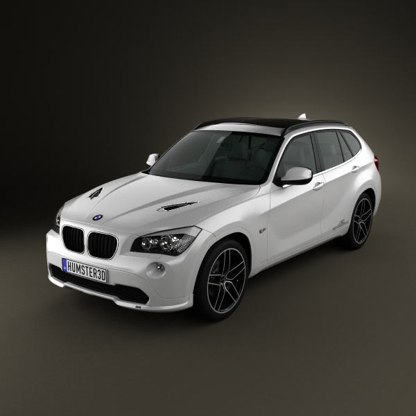 bmw x1 2010 ac schnitzer 3d model humster3d. Black Bedroom Furniture Sets. Home Design Ideas