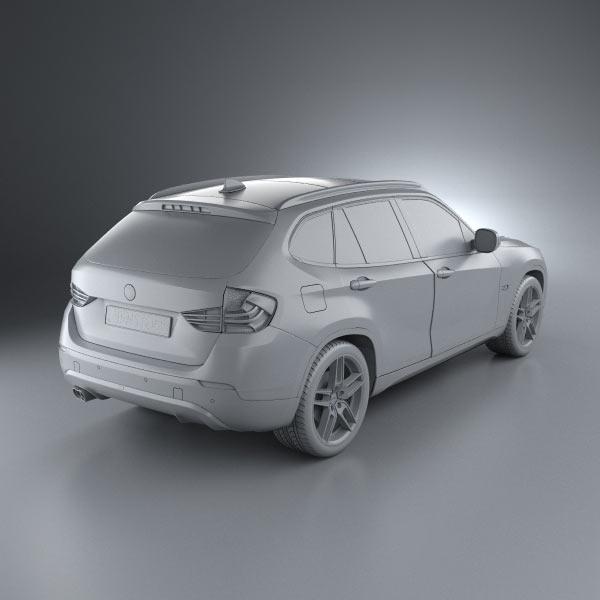 bmw x1 2010 ac schnitzer 3d model humster3d. Black Bedroom Furniture Sets. Home Design Ideas