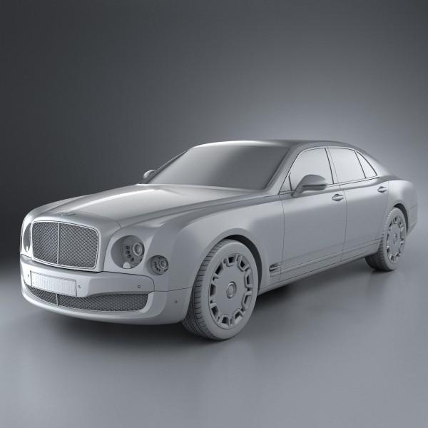 Cost Of A New Bentley: Bentley Mulsanne 2011 3D Model