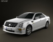 3D model of Cadillac STS 2010