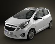 3D model of Chevrolet Spark (Beat) 2010