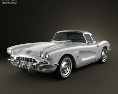 3D model of Chevrolet Corvette 1962