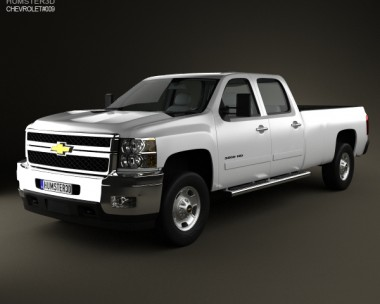 3D model of Chevrolet Silverado 3500HD 2011