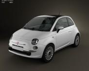 3D model of Fiat 500 2010