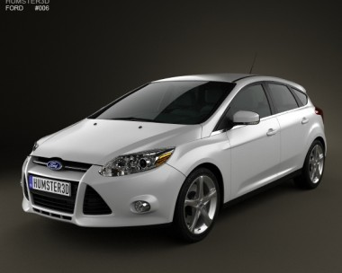 3D model of Ford Focus Hatchback 2011