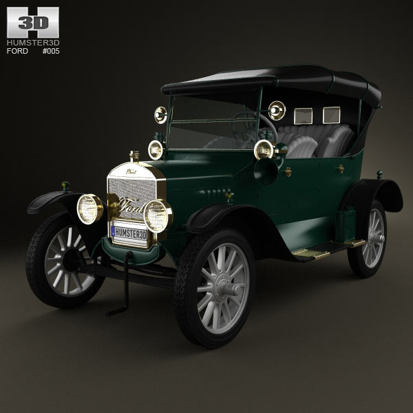 Ford Model T 4door Tourer 1924 3d car model