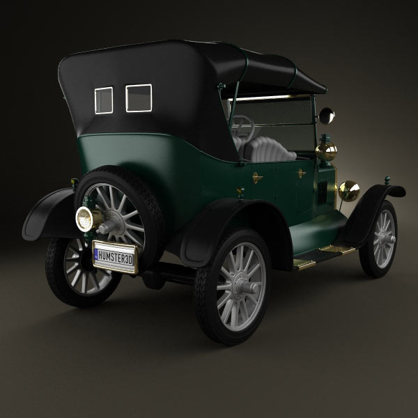 Ford Model T 4door Tourer 1924 3d model