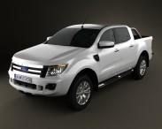 3D model of Ford Ranger (T6) 2011
