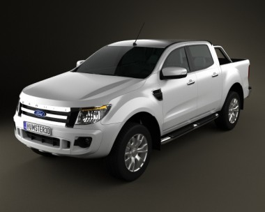 3D model of Ford Ranger (T6) 2011