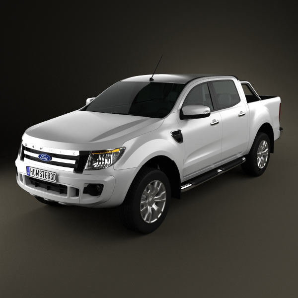 Ford Ranger (T6) 2011 3d car model