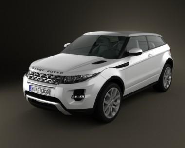 3D model of Range Rover Evoque 2011