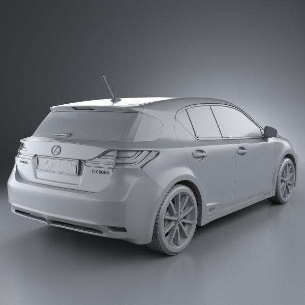 2011 Lexus Ct Exterior: Lexus CT 200h 2011 3D Model