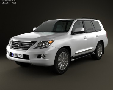 3D model of Lexus LX 570 (J200)