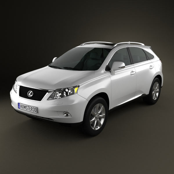 Lexus RX 2010 3d car model