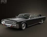 3D model of Lincoln Continental X-100 1961