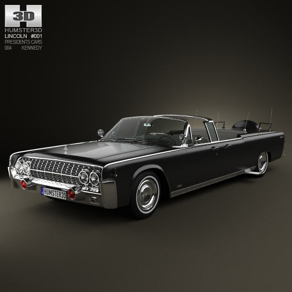 Lincoln Continental X-100 1961 3d car model