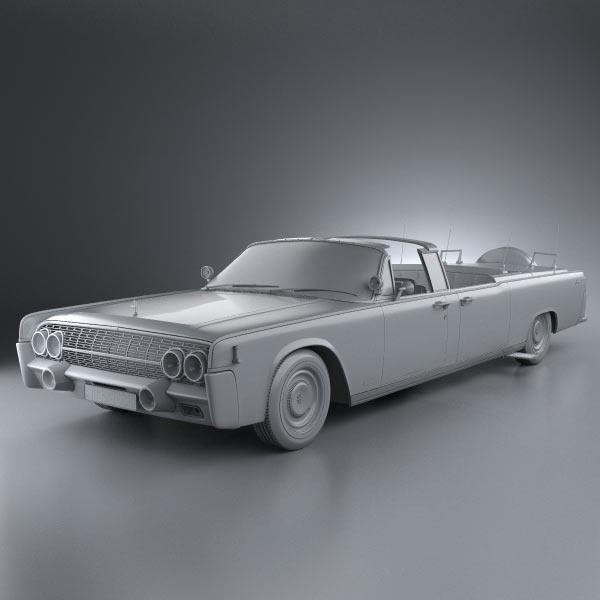 lincoln continental x 100 1961 3d model humster3d. Black Bedroom Furniture Sets. Home Design Ideas