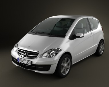 3D model of Mercedes-Benz A-Class W169 Coupe