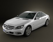 3D model of Mercedes-Benz CL-Class W216 2011