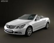 3D model of Mercedes-Benz E-Class cabrio 2011