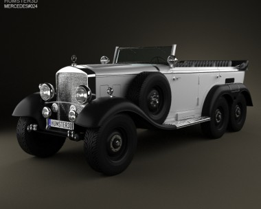 3D model of Mercedes-Benz G4 Offroader 1939