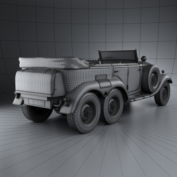 Mercedes benz g4 offroader 1939 3d model humster3d for Mercedes benz g4