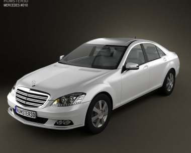 3D model of Mercedes-Benz S-Class