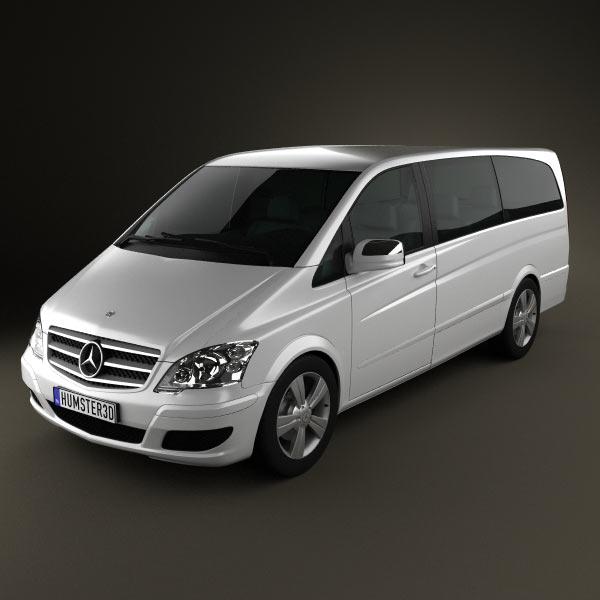 3D model of Mercedes-Benz Viano Extralong