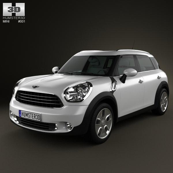 3D model of Mini Countryman 2011