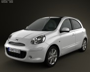 3D model of Nissan Micra (March) 2011