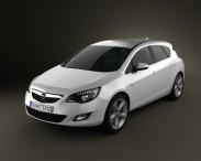 3D model of Opel Astra J 2011