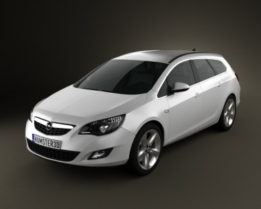 3D model of Opel Astra J Tourer 2011