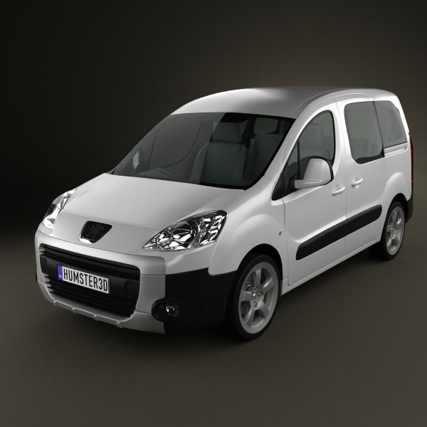 Peugeot Partner Tepee 2011 3d car model